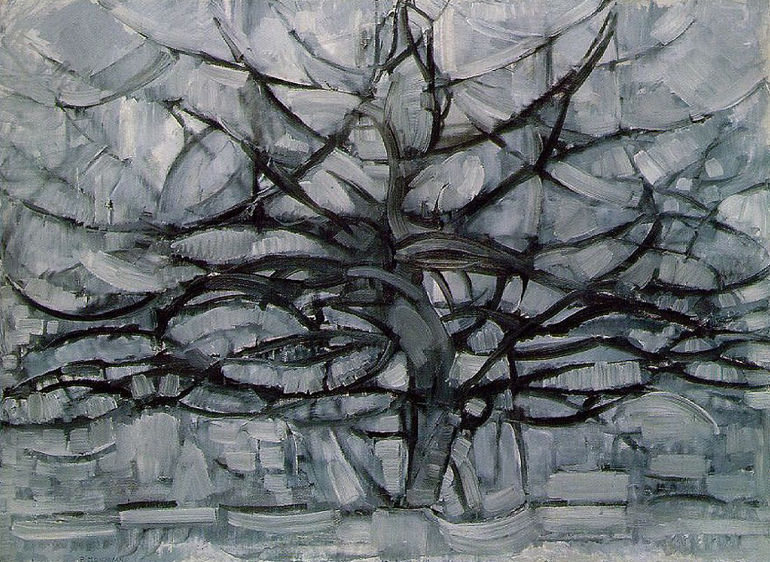 The Gray Tree by Piet Mondrian