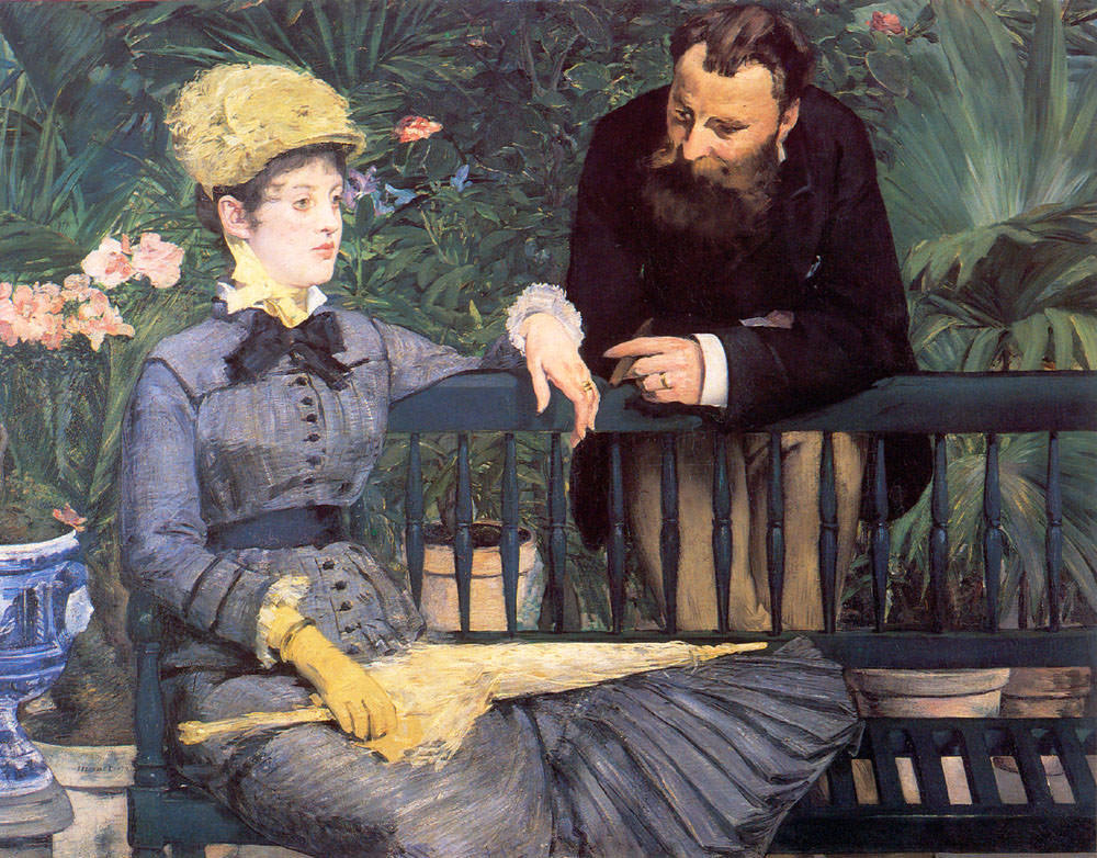 The Conservatory by Édouard Manet