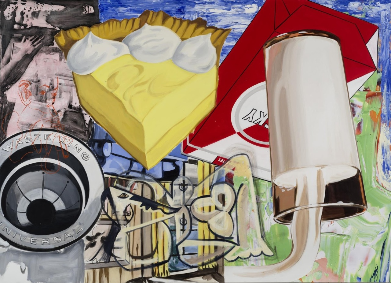 Yellow Fellow by David Salle